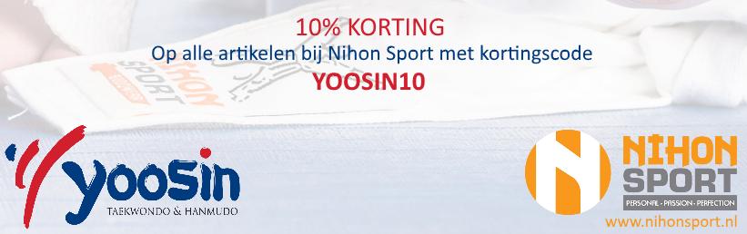 10% Korting bij Nihon Sport